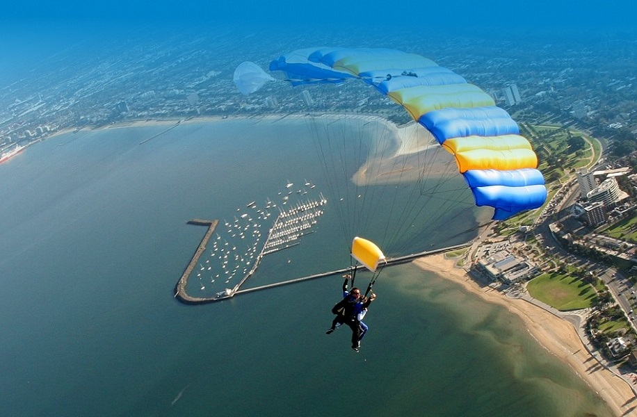 Melbourne skydiving view