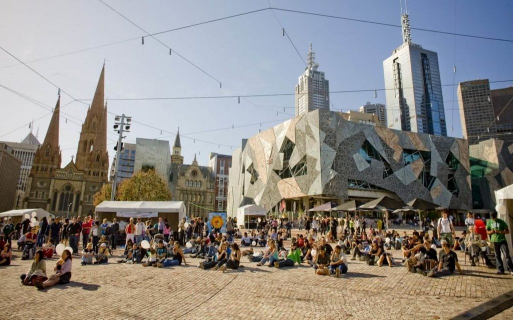 Federation square Crowne Plaza Melbourne