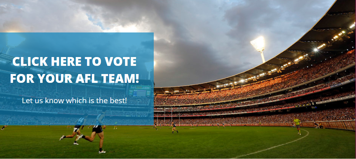 Vote for your ALF fotty team Crowne Plaza Melbourne
